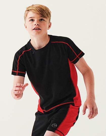 Kids Beijing T - Regatta Sport Black - Classic Red