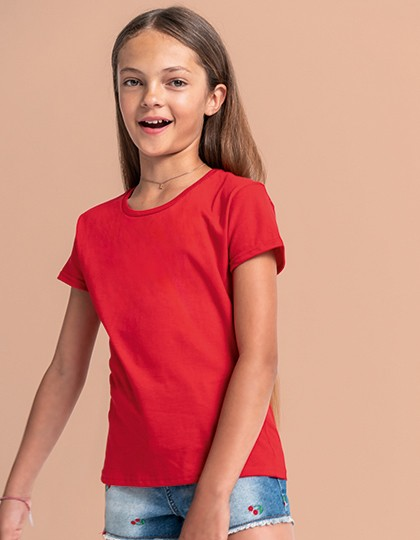 Girls Iconic T - Fruit of the Loom White