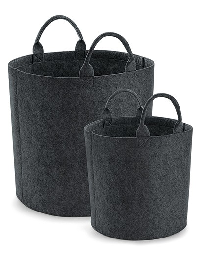 Felt Trug - BagBase Charcoal Melange