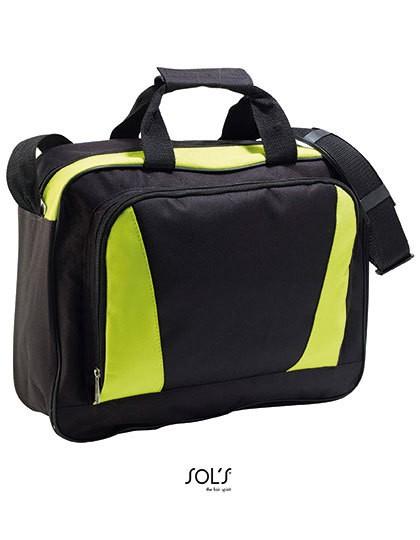 Businessbag Cambridge - Businesstaschen - Dokumententaschen - SOL´S Bags Black - Apple Green