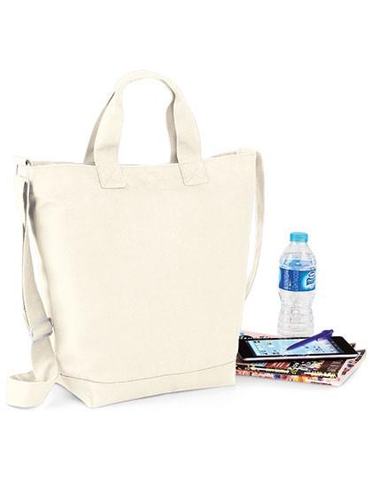 Canvas Day Bag - Freizeittaschen - Freizeit-Umhängetaschen - BagBase Black