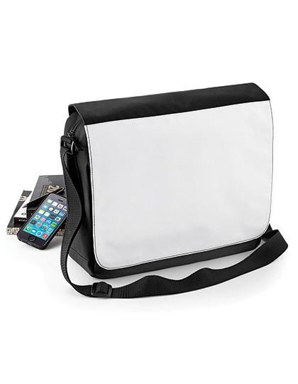 Sublimation Messenger Bag - Sublimationstextilien - Sublimationstaschen - BagBase Black