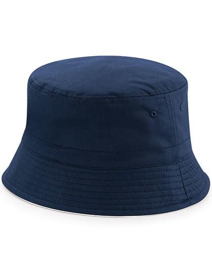 Reversible Bucket Hat - Caps - Hüte - Beechfield Black - Light Grey