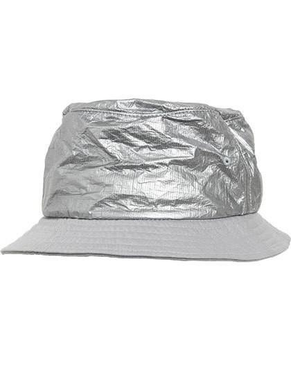 Crinkled Paper Bucket Hat - FLEXFIT Black