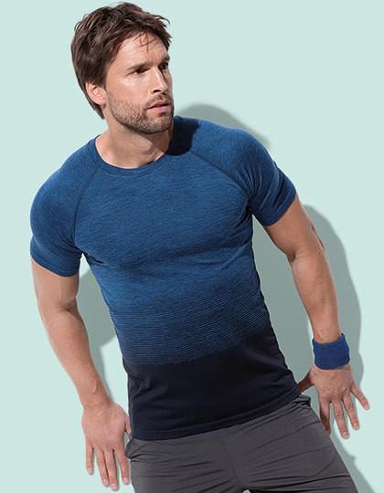 Seamless Raglan Flow T-Shirt - Stedman® Blue Transition