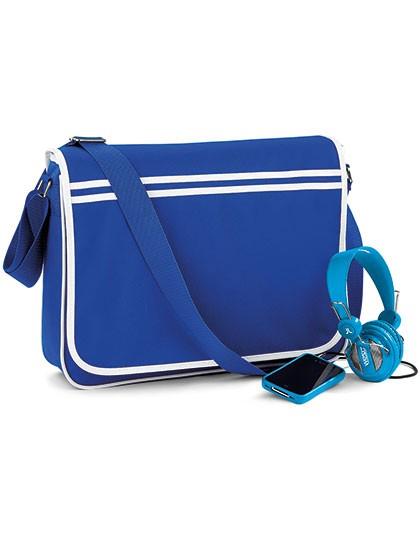 Retro Messenger - Freizeittaschen - Freizeit-Umhängetaschen - BagBase Black - White