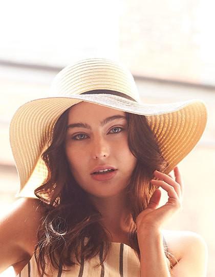 Marbella Wide-Brimmed Sun Hat - Caps - Hüte - Beechfield Black