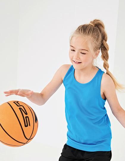 Kids` Cool Vest - Kinderbekleidung - Kinder T-Shirts Ärmellos & Trägershirts - Just Cool Arctic White