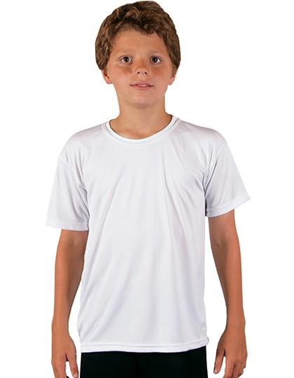 Youth Solar Performance Short Sleeve T-Shirt - Sublimationstextilien - Sublimations Kinderartikel - Vapor Apparel Athletic Grey