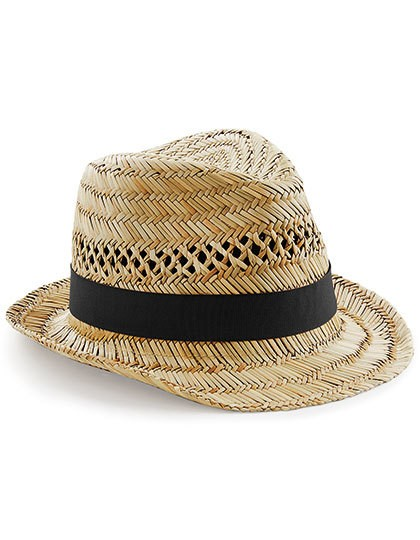 Straw Summer Trilby - Caps - Hüte - Beechfield Natural