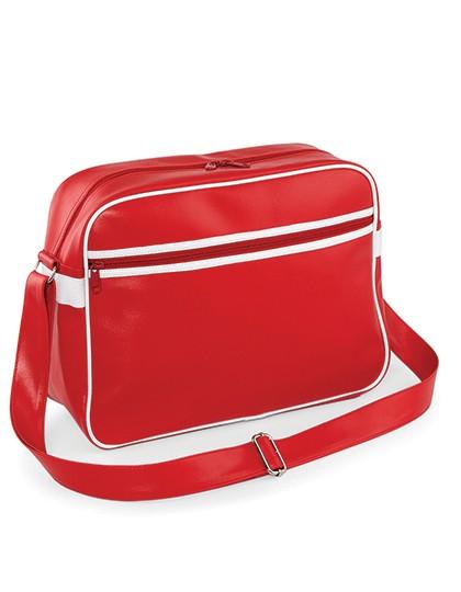 Original Retro Messenger - Freizeittaschen - Freizeit-Umhängetaschen - BagBase Black - White