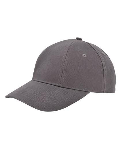Baumwollcap low profile-brushed - Caps - 6-Panel-Caps - Printwear Black