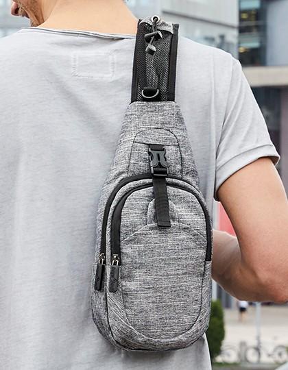 Shoulder Bag - Brooklyn - Freizeittaschen - Freizeit-Umhängetaschen - Bags2GO Grey Melange