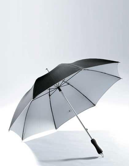 Aluminium Fiberglas Stockschirm - Schirme - Stockschirme - Printwear Black - Silver
