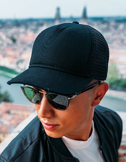 Rapper Destroyed Cap - Caps - Netz- & Sport-Caps - Atlantis Black - Black