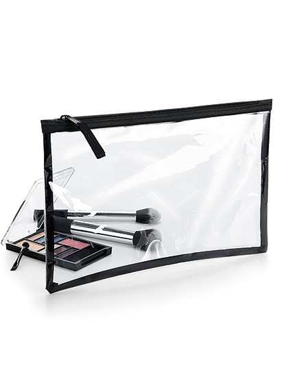 Clear Grab Pouch - BagBase Clear - Black