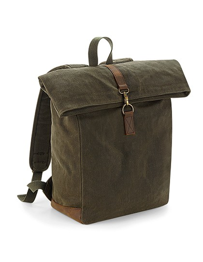 Heritage Waxed Canvas Backpack - Quadra Olive Green