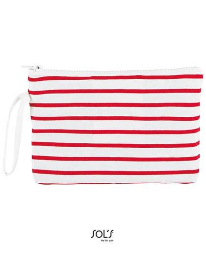 Striped Jersey Case Aurora - Freizeittaschen - Accessoires - SOL´S Bags White - Navy