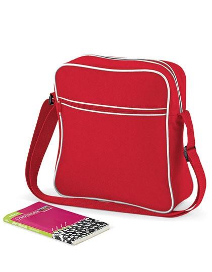 Retro Flight Bag - Freizeittaschen - Freizeit-Umhängetaschen - BagBase Black - Dark Graphite
