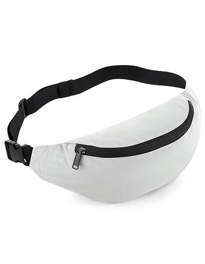 Reflective Belt Bag - BagBase Black Reflective