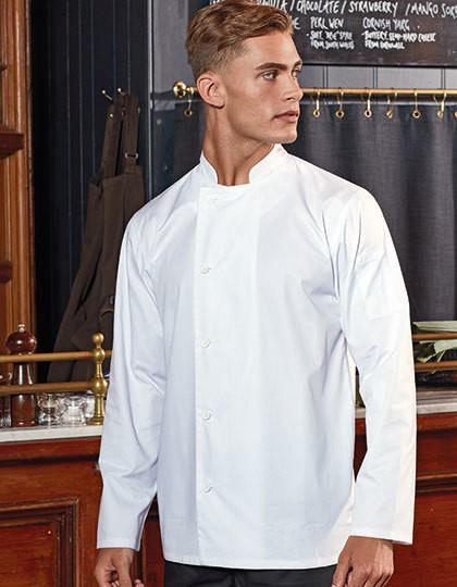 Essential Long Sleeve Chefs Jacket - Premier Workwear Black