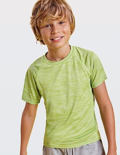 Austin Kids T-Shirt - Roly Sport Black Melange 243