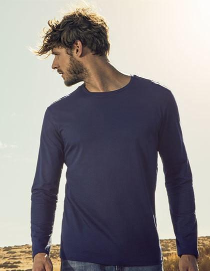 Men´s Roundneck T-Shirt Longsleeve - X.O by Promodoro White
