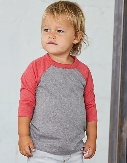 Toddler 3-4 Sleeve Baseball Tee - Kinderbekleidung - Baby Shirts & Hosen - Canvas Black - White