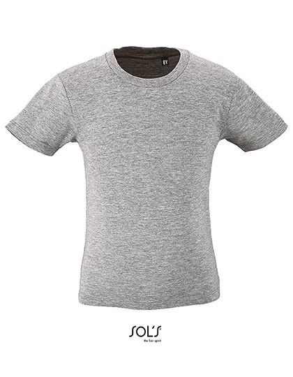 Kids` Round Neck Short-Sleeve T-Shirt Milo - Kinderbekleidung - Kinder T-Shirts - SOL´S Pure Grey