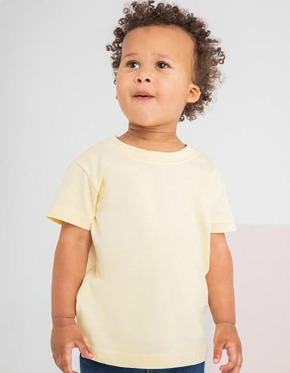 Baby-Kids` Crew Neck T-Shirt - Kinderbekleidung - Kinder T-Shirts - Larkwood Black