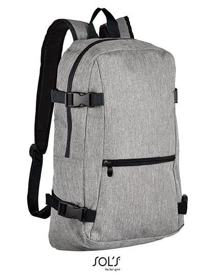 Backpack Wall Street - Rucksäcke - Laptop-Rucksäcke - SOL´S Bags Grey Melange