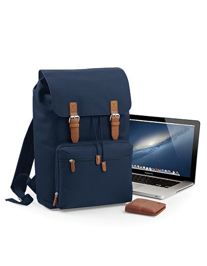 Vintage Laptop Backpack - Rucksäcke - Laptop-Rucksäcke - BagBase Black