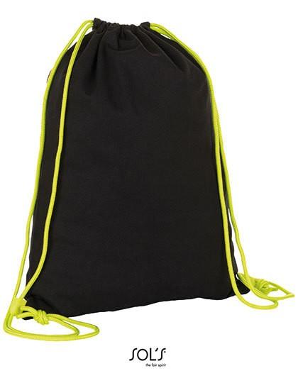 District Backpack - Baumwoll- & PP-Taschen - Baumwolltaschen - SOL´S Bags Black - Neon Lime