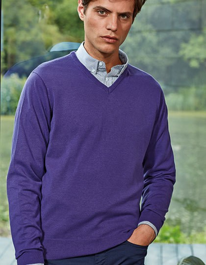 Men`s V-Neck Knitted Sweater - Pullover & Strickwaren - Pullover - Premier Workwear Black