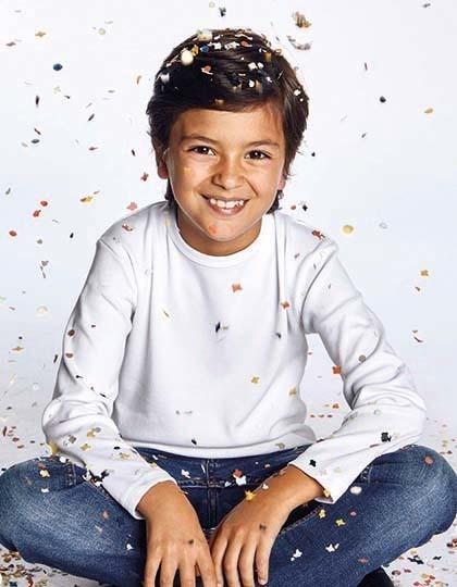 Kids`-T Longsleeve - Kinderbekleidung - Kinder T-Shirts - Promodoro Fire Red