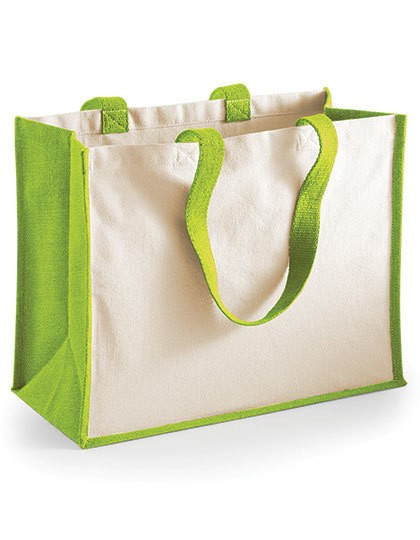 Printers Jute Classic Shopper - Baumwoll- & PP-Taschen - Jute-Taschen - Westford Mill Apple Green
