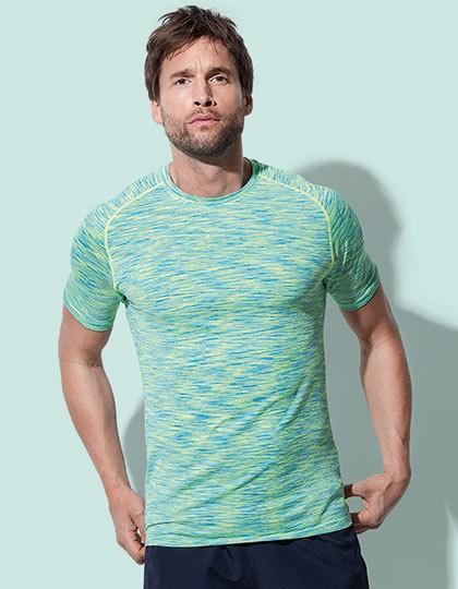 Seamless Raglan T-Shirt - Sports & Activity - Kontrast Sport Shirts - Stedman® Black Opal Melange