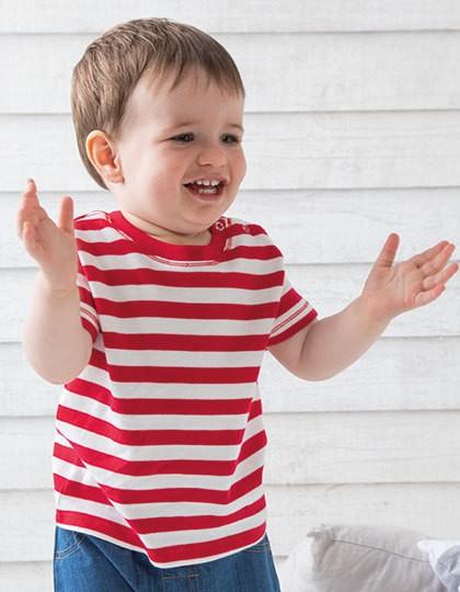 Baby Stripy T - Kinderbekleidung - Baby Shirts & Hosen - Babybugz Navy - Washed White