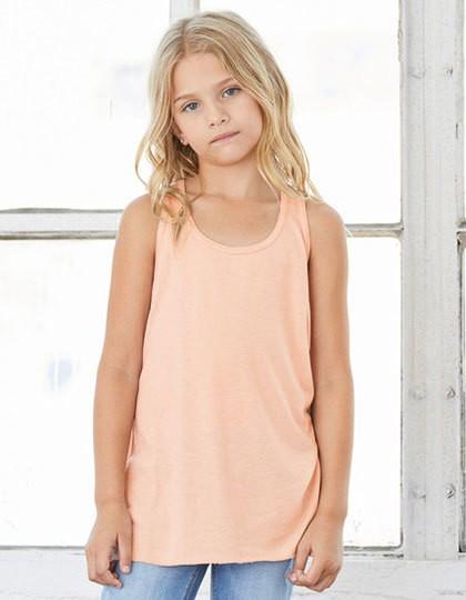 Youth Flowy Racerback Tank - Kinderbekleidung - Kinder T-Shirts Ärmellos & Trägershirts - Bella Athletic Heather