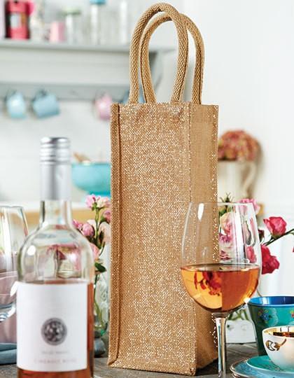 Shimmer Jute Bottle Bag - Baumwoll- & PP-Taschen - Jute-Taschen - Westford Mill Natural Gold