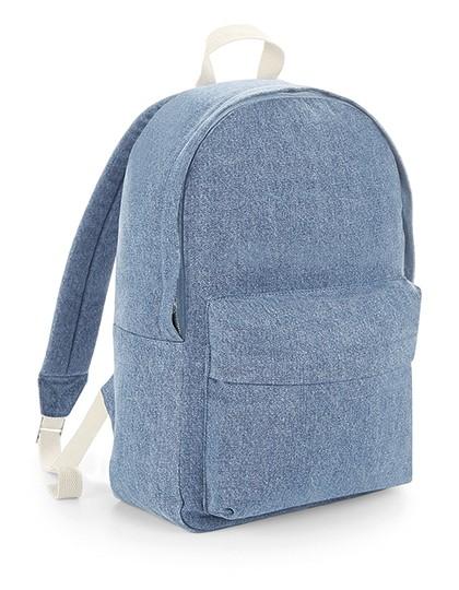 Denim Backpack - BagBase Denim Blue