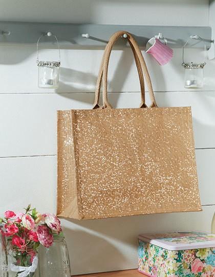 Shimmer Jute Shopper - Baumwoll- & PP-Taschen - Jute-Taschen - Westford Mill Natural Gold
