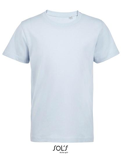 Kids´ Round Neck T-Shirt Martin - SOL´S Heather Grey Melange