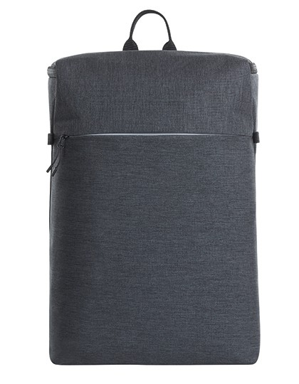 Notebook Backpack Top - Halfar Black - Grey-Sprinkle
