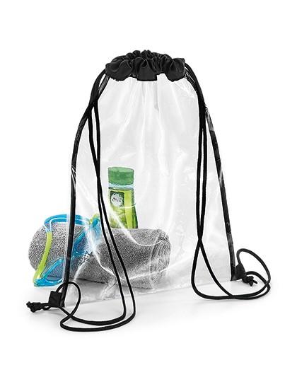 Clear Gymsac - BagBase Clear - Black