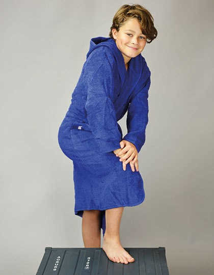 Boyzz & Girlzz® Hooded Bathrobe - Frottierwaren - Bademäntel - A&R Aqua Blue - Aqua Blue