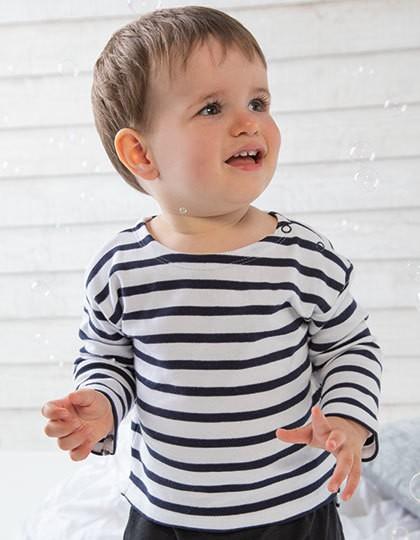 Baby Breton Top - Babybugz White - Navy