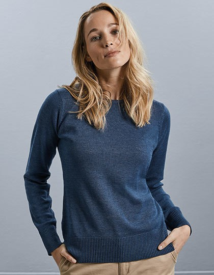 Ladies` Crew Neck Knitted Pullover - Pullover & Strickwaren - Pullover - Russell Collection Black
