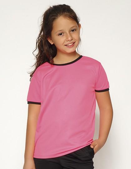Action Kids - Short Sleeve Sport T-Shirt - Sports & Activity - Basic Sport Shirts - Nath Black - Yellow Fluor