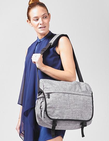 Messenger Bag - Los Angeles - Freizeittaschen - Freizeit-Umhängetaschen - Bags2GO Grey Melange